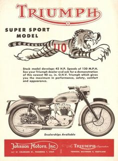 STRANDED KOSMONAUT: Vintage Triumph Motorcycle Ads