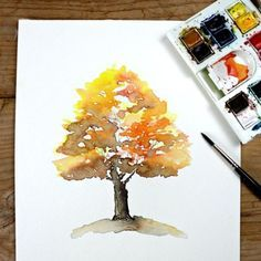 Learn to paint this gorgeous autumn tree with simple step by step instructions. Use the same principals to paint trees for every season.