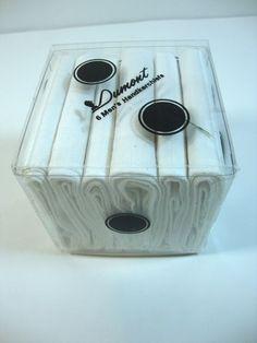 Vintage 6 Dumont Men's Handkerchiefs White  #Dumont #Plain http://www.ebay.com/itm/301361673513?ssPageName=STRK:MESELX:IT&_trksid=p3984.m1555.l2649