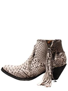 For the wild-at-heart!  Old Gringo Adela Python Zip Womens Boots - Chocolate/White BL1116-20 | www.bootstaronline.com