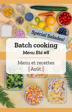 Batch cooking Eté #8 - Mois de Août 2020 - Semaine 33 Diet Recipes, Vegan Recipes, Cooking Recipes, Plats Healthy, Batch Cooking, Cooking Light, Food Inspiration, Entrees, Meal Prep