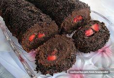 Extra čokoládová roláda s jahodovým překvapením uvnitř. 20 Min, Sweet Recipes, Muffin, Cooking, Breakfast, Desserts, Food, Pineapple, Mascarpone