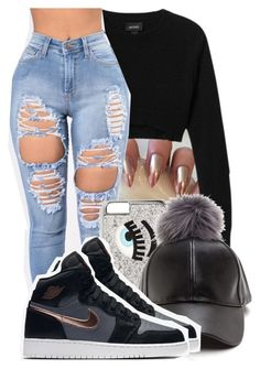 """Untitled #2528"" by kayla77johnson ❤ liked on Polyvore featuring Monki, Chiara Ferragni and NIKE"
