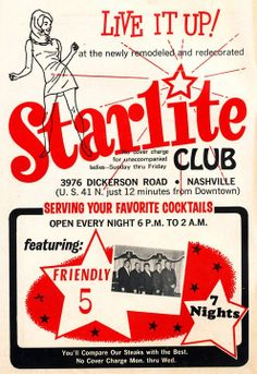 Mom & dad went here sometimes.  It sounded so glamorous my sister and I drew stars on the walls of our closet and called it The Starlite Club.  Dumb kids