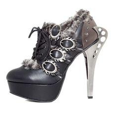Chaussure compensée steampunk Hades Footwear