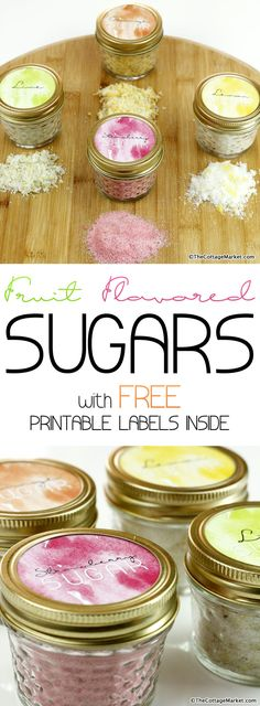 Fruit Flavored Sugar DIY with Free Printable Labels - The Cottage Market