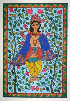 Madhubani paintings by aparna bhandar, via Behance