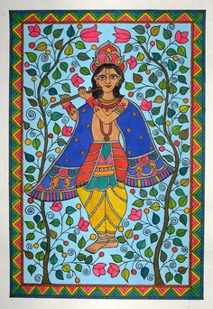 Madhubani paintings   by aparna bhandar, via Behance