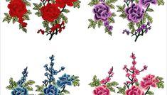 1 pereche de stickere decorative pentru haine, accesorii pentru lucru manual, broderie cu model floral etnic pentru guler Diagram, Tapestry, Map, Floral, Model, Home Decor, Embroidery, Bamboo, Hanging Tapestry