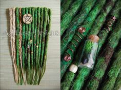 Earthbound ♥ See more #AcidroseDesigns #synthetic #dreads @ www.facebook.com/acidrosedesigns