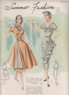 We're getting near the end of my pile of Modes Royale pattern catalogues. I … We're getting near the end of my pile of Modes Royale pattern catalogues. I think I have enough to take us through the end of January. Vintage Dress Patterns, Dress Sewing Patterns, Vintage Dresses, Vintage Outfits, Dresses Art, 1950s Dresses, Vintage Clothing, Fabric Patterns, Moda Vintage