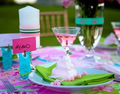 Lilly Pulitzer inspired bridal shower