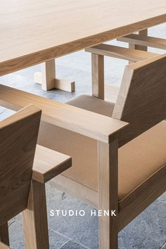 The high quality craftsmanship behind the Base Dining Chair from Studio HENK will ensure that this piece is practical to use everyday, and that it can last in your home for generations. #studiohenk #craftsmanhip #rustic #oak #wooden #interiorinspiration #diningchair #basediningchair Dining Room Furniture, Dining Bench, Dining Chairs, Soft Chair, Natural Interior, Interior Design Companies, Room Essentials, Minimalist Interior, Interior Styling