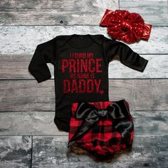 I Found My Prince His Name Is Daddy Shirt Baby Shower Gift Bodysuit Baby Girl Clothes Baby Girl Shirt Baby Clothes by ShopVivaLaGlitter on Etsy Baby Girl Shirts, My Baby Girl, Shirts For Girls, Baby Love, Baby Girl Fashion, Kids Fashion, Fashion Wear, Cute Babies, Baby Kids