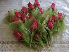"""Сладкая композиция """"Бутоны роз"""" - Ярмарка Мастеров - ручная работа, handmade"""