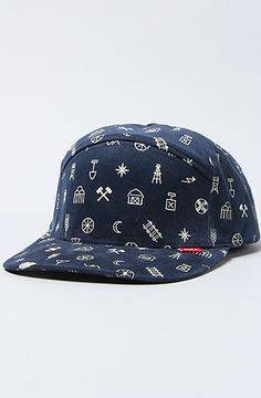 The Ghost Town Cap in Navy by RVCA Ghost Towns a51fa0753355