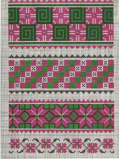 Ukrainian folk Border cross stitch chart / cross stitch pattern - but may also be used for: crochet, knitting motifs, knotting, loom beading, Perler beading, weaving and tapestry design, pixel art, micro macrame, friendship bracelets, and anything involving the use of a charted pattern.