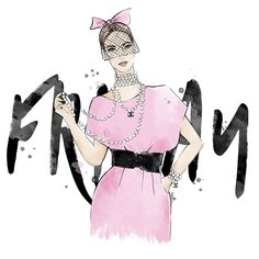 Finally friday iggers 😘  .  .  #friday #morning #weekend #sketch #art #artist #fashion #styled #inspo #chanel #blogger #ootd #artfashion #fashionart #illustration #digitalillustration #fashionillustration #work #freelancelife #pink #girl #pursuepretty #beauty
