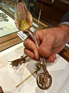 Artichoke Spoon from Ménagère Gilt Silver Cutlery Service (1962) by Salvador Dalí