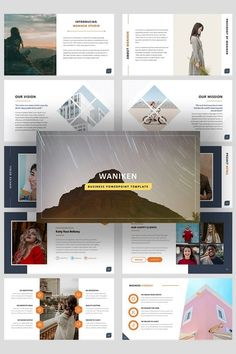 Introducing Waniken - A Business PowerPoint Presentation Template. This PowerPoint Template can be used for a variety of businesses, such as: Startup Company, Creative Agency, Creative Studio, Corporate, Institution, Company and also can be used for Personal Portfolio. This PowerPoint Template contains Modern, Elegant, Clean, & Simple content slides. #businesspowerpointtemplate Business Powerpoint Presentation, Business Powerpoint Templates, Psd Templates, Slide Design, Web Design, Thank You Font, Logo Creation, Personal Portfolio, Writing Services