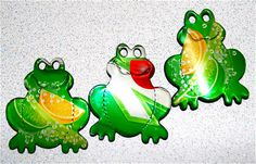 Recycled Soda Can Art  Cola Frog Trio Magnets by apmemory on Etsy, $5.95