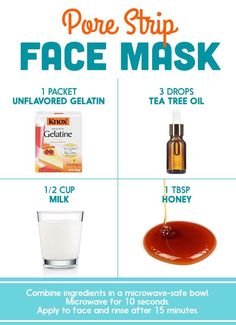 Milk + Unflavored Gelatin (+ Optional: Honey, Tea Tree Oil) | Here's What Dermatologists Said About Those DIY Pinterest Face Masks