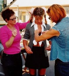 """Britney Spears on the set of """"Hit Me Baby One More Time."""""""