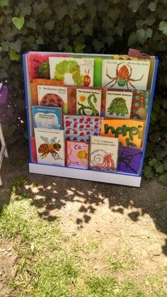 Eric's Carle bookshelf. So children could learn more about him as an illustrator and author.