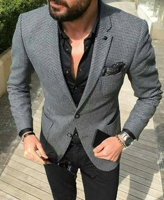 men's casual suit outfit men's fashion стиль д Mens Casual Suits, Mens Fashion Suits, Classy Mens Fashion, Casual Man, Smart Casual, Blazer Outfits Men, Casual Outfits, Casual Blazer, Fashionable Outfits
