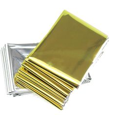 Emergency Mylar Survival Blankets Reflective Thermal Blanket Silver Gold (Pack of 5) >>> Want additional info? Click on the image.