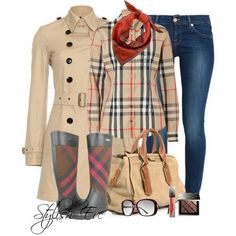 Burberry Winter 2013 Outfits for Women by Stylish Eve