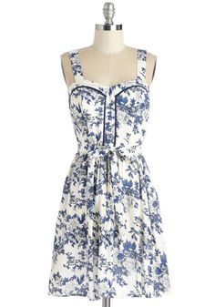 Downtown Ditty Dress. Take the scenic route through town in this floral dress, humming and whistling all the way! #multi #modcloth