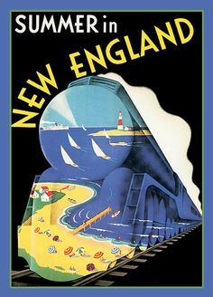 Summer in New England Refrigertor Magnet   FREE US by LABELSTONE, $5.00