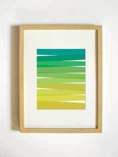 Green Ombre Wall Decor  8x10 Art Print  Home by RetroMenagerie, $20.00