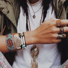 bohemian fashion style jewelry braelet ring. For more follow www.pinterest.com/ninayay and stay positively #pinspired #pinspire @ninayay