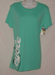 Nishiki Shirt Green Short Sleeve Cycle Tee Moisture Management Womens Size L NEW #Nishiki #ShirtsTops