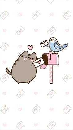 pusheen the cat valentine's day iphone wallpaper Iphone Wallpaper Kawaii, Cat Wallpaper, Iphone Wallpapers, Kawaii Drawings, Cute Drawings, Pusheen Love, Kawaii Cat, Cute Backgrounds, Cute Art
