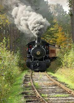 Lumberjack Steam Train in Laona, Wisconsin