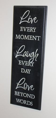 LIVE LAUGH LOVE Sign/live Each by TheGingerbreadShoppe on Etsy, $19.95