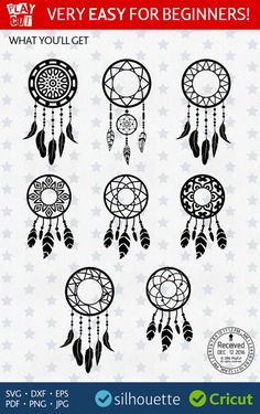 DREAM CATCHER SVG Dreamcatcher Svg Dreamcatcher Monogram Svg Initial Frame Svg cut files Clip art Template for Cricut Dxf Silhouette Png Eps. NO fonts or monogram alphabets are included. Need monogram fonts? Click in the Section with Monogram fonts: Homemade Dream Catchers, Making Dream Catchers, Dream Catcher Craft, Dreams Catcher, Dream Catcher Drawing, Dream Catcher Patterns, Dreamcatcher Design, Dream Catcher Tutorial, Rock Painting Designs