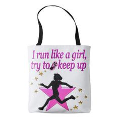 PINK STAR TRACK AND FIELD CHAMPION TOTE BAG Calling all Track Stars! Enjoy the best selection of Running and Track Tees and Gifts from Zazzle.  15% Off Sitewide Use Code: SPRINGLOVE17      http://www.zazzle.com/mysportsstar/gifts?cg=196451289151790577&rf=238246180177746410 #TrackandField #Runtrack #GirlsTrack #Crosscountry #RunlikeaGirl