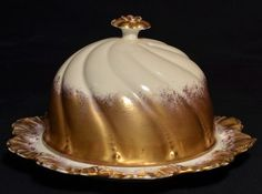 RARE Antique Victorian French Limoges Porcelain Cheese Dish Hand Applied Gold | eBay