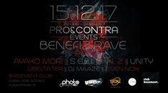 FREITAG --> 15.12.17 ---> Pro&Contra Events pres. Benefiz Rave 2017 @ Club Basement Düsseldorf Altstadt Event: www.facebook.com/events/522781948079307/
