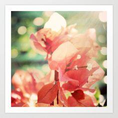 Coral Glow Bougainvillea Photograph Art Print by Joyful Roots - $18.00