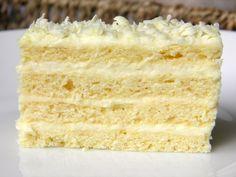 bijela pita - Croatian white pie (sour cream and vanilla layer cake)