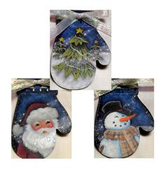 The Magic of Christmas Ornament E-Packet - Ann Perz – Tole and Decorative Painting Online Store Silver Christmas Decorations, Christmas Door Wreaths, Christmas Ornament Sets, Christmas Countdown, Christmas Crafts, Christmas Ideas, Christmas 2017, Homemade Christmas, Christmas Presents