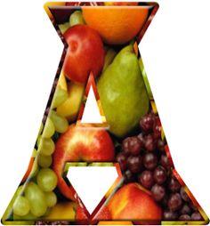 Alfabeto Decorativo: Alfabeto - Frutas - PNG - Maiúsculas e Minúsculas ...