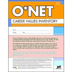 The O*NET Career Values Inventory helps individuals match their work values to O*NET job titles. Consisting of just 36 items and taking less than 20 minutes to complete, the inventory scores into six work values identified most important by the U.S. Department of Labor: achievement, independence, recognition, relationships, support, and working conditions.
