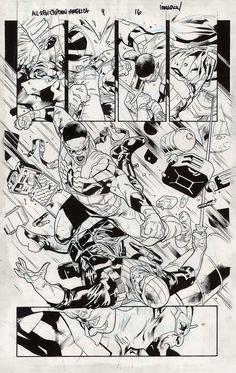 Fanfare :: For Sale Artwork :: All-New Captain America by artist Stuart Immonen