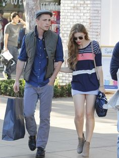 Holland Roden and Colton Haynes stopped by Zara in West Hollywood
